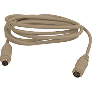 """Belkin, Keyboard / Mouse Extension Cable 6 Pin Ps/2 (M) 6 Pin Ps/2 (F) 15 Ft Gray """"Product Category: Supplies & Accessories/Keyboard/Mouse Cables"""""""