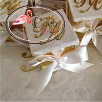 luxury acrylic gift box with laser cut acrylic logo