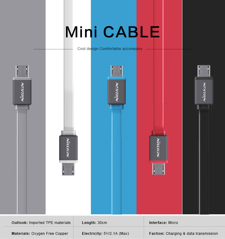 Nillkin Micro 2.0 mini 30 cm Charging USB data transferring Cable