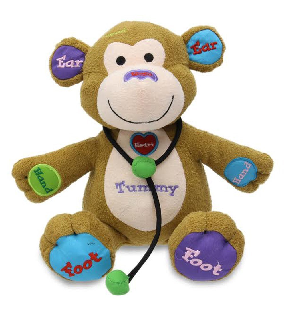 Cuddle Barn Learning Child Play Animated Plush Monkey Toy - Dr. Charlie (CB4761)