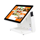 white i3 i5 motherboard supported 15 inch windows square pos system