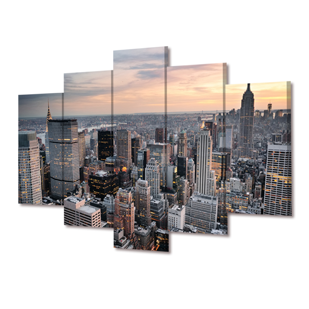 no frame new york large modern canvas wall art oil. Black Bedroom Furniture Sets. Home Design Ideas