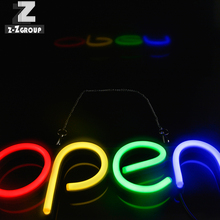 LED Neon Sign Board 43*23 cm Oval Custom outdoor 24 시간 비즈니스