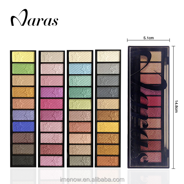 Makeup Brand Naras 4046 Eye shadow Pan Packaging Case Sticker 10 Colors EyeShadow Palette