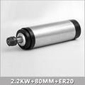 2 2KW 80MM ER20 cnc Spindle 24000rpm Machine Spindle Motor Water Colling Engraving Milling Spindle 220v