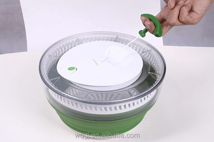 Food Grade Easy Use Vegetable Tools Collapsible Salad Spinner