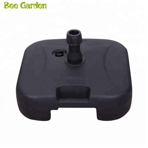 Black Empty Water Filled Square Plastic Umbrella Base