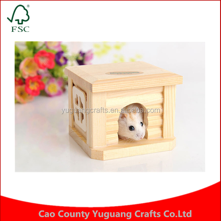 Little Pet Hamster Rabbit Guinea Pig Chinchilla Wooden House Cage