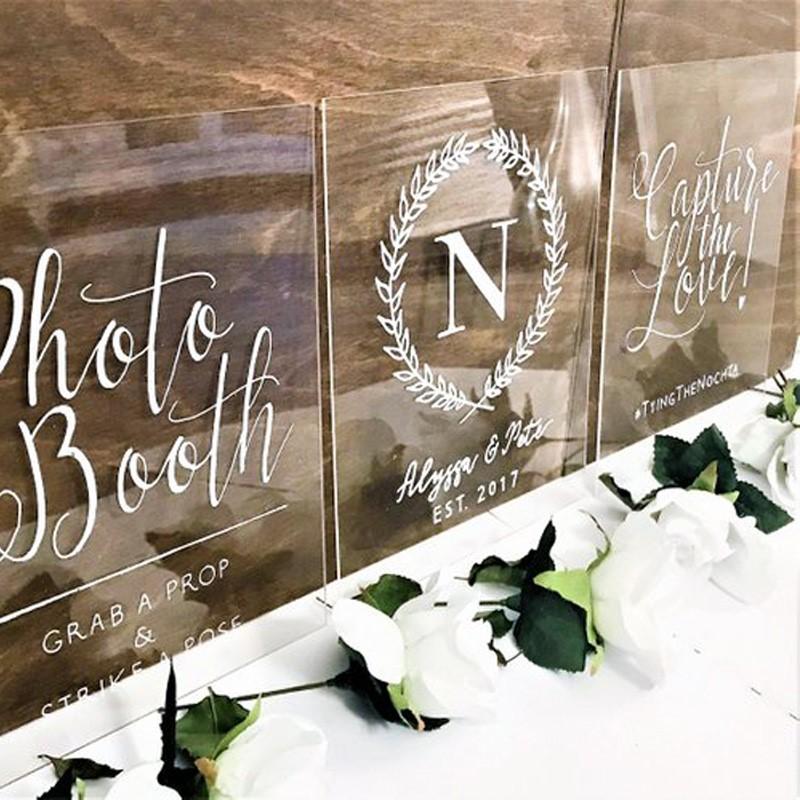 Acrylic wedding sign clear acrylic welcome sign acrylic engraved wedding sign