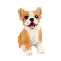 Sitting Puppy Dog Collectable Resin Animal Ornament
