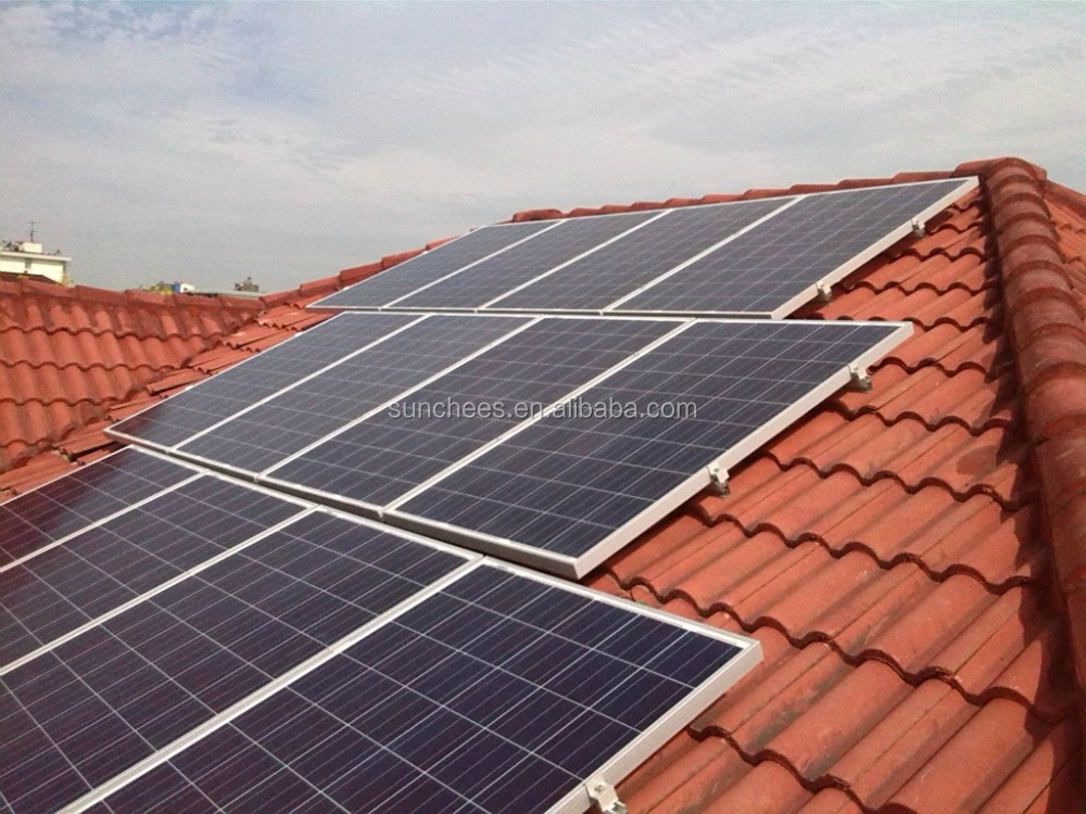 Solar pv system with battery for power supplied 1KW 2KW ;photovoltaic panel price system