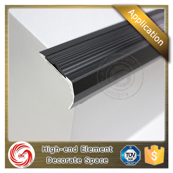 Sample supply cover section aluminum vinyl floor stair nosing for indoor stair