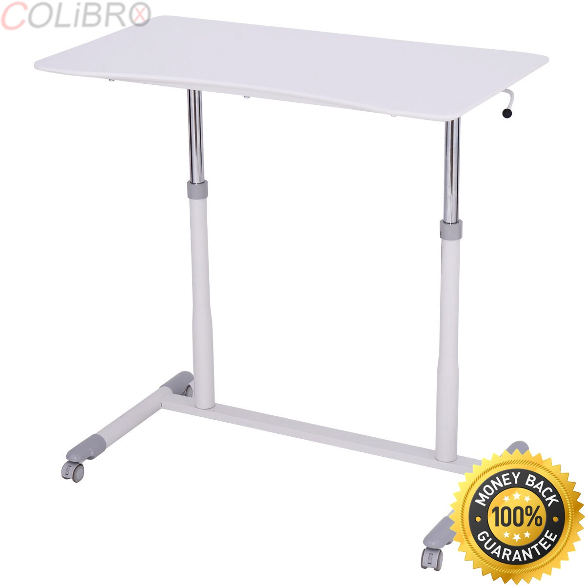 COLIBROX--Height Adjustable Computer Desk Sit to Stand Rolling Notebook Table Portable New. adjustable desktop. best adjustable height stand up desk. portable Notebook Table amazon.