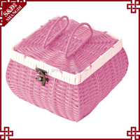S.D washing plastic rattan cheap woven gift baskets and boxes