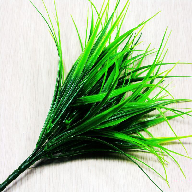 Green Artificial Plants For Simulation Flowers Home Hotel Store Dest Decor Decorative Plastic 7 Fork Spring Grass