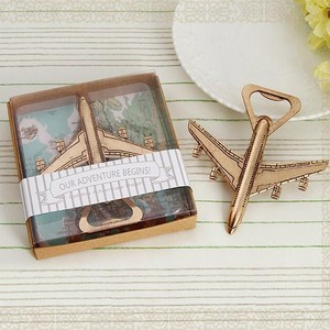 New airplane style bottle opener wedding giveaways gifts favors wedding souvenirs