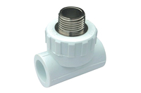 ppr pipe fittings female/male stainless brass tee