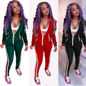 BG1118 Sport Suit Jumpsuit Women Sexy Long Sleeve Gym Clothes Sportswear