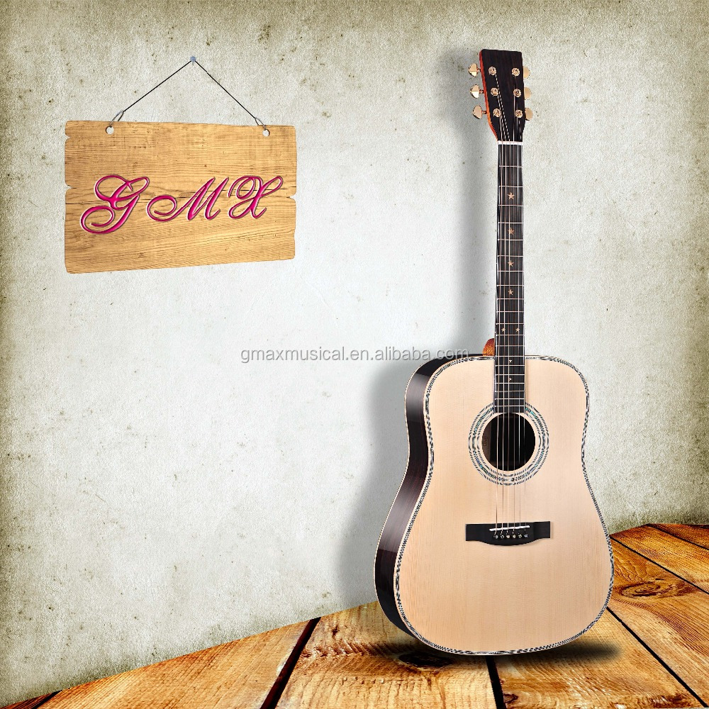 China factory 24 frets guitar acoustic guitar solid wood guitar with fast lead time