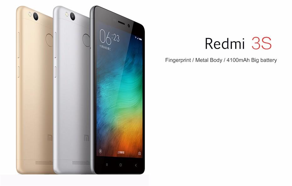 "Xiaomi Redmi 3s Pro 3 32gb Dual Sim Grey картинка4: Xiaomi Redmi 3S Pro Prime 5.0"" 4100mAh SmartPhone GOLD LTE"