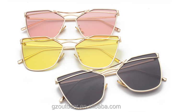 2016 Wholesale Adult Men Women Colorful Marine Sunglasses,fashion style brand metal sunglasses