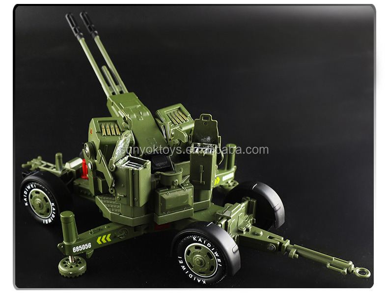 Military Fire  Cannon Vehicle Model Toy 1:35 Scale Diecast in box New