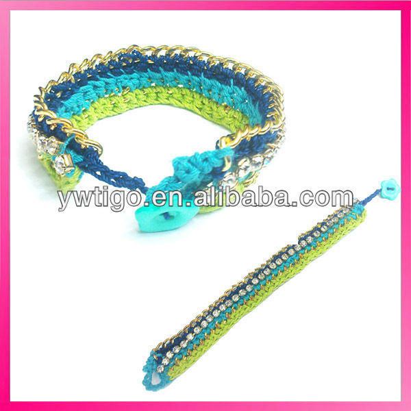 Único Arco Iris Pulsera De Ganchillo Patrón - Buy Pulsera Crochet ...