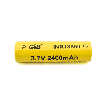 18650 rechargeable Li-ion battery 3.7V 2400mAh