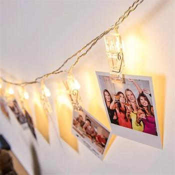 Warm White LED 30L 40 L Photo Clips String Lights