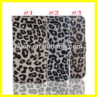 "New Manufacture Wholesale Phone Case 2013 Hot Selling Wallet Case for iPhone 5 Leather Case for iphone 5"" Fashion Leopard Stand"