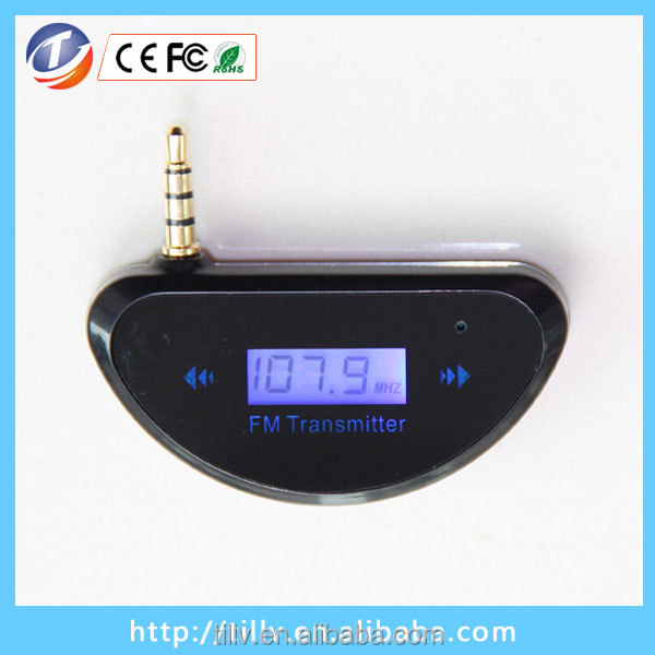 Utra- compact Wireless 3.5mm Jack Full Frequency Rechargeable Car Fm Transmitter