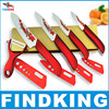 "Beauty Gifts Zirconia kitchen Ceramic fruit Knife Set Kit 3"" 4"" 5"" 6"" inch with Flower printed+ Peeler+Covers"