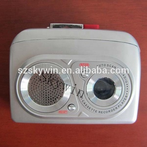 Newest portable Simple Walkman voice Cassette recorder with AM/FM radio
