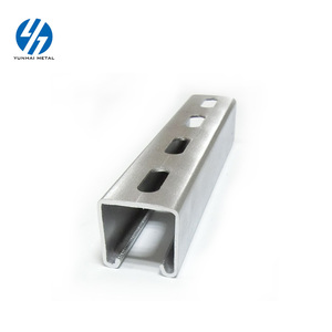 Factory price c channel unistrut channel slotted c channel