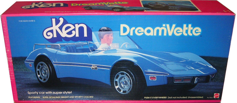 Barbie Ken Blue DREAM' VETTE - Chevy Corvette Convertible Car