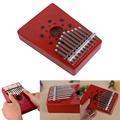 2017 10 Keys Thumb Piano Traditional Musical Instrument Portable Wood Piano Body New FEB17 30