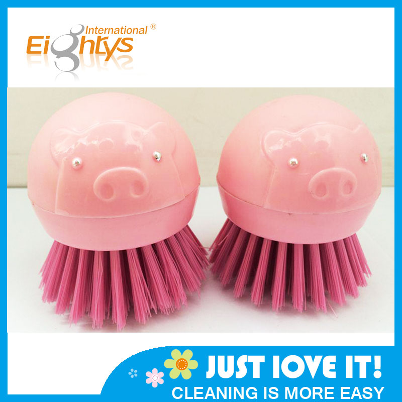 Plastic Pig Shape Cleaning Brush