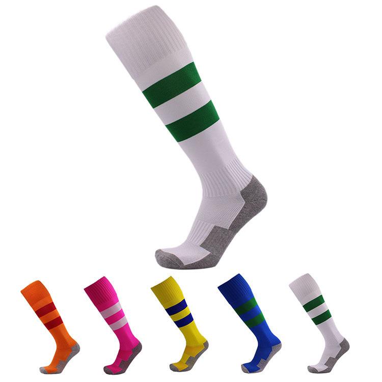 2ca43375a498a Dépouillé Sport Football Football Longues Chaussettes Genou Haute  Compression Chaussettes De Baseball pour Enfants Enfants