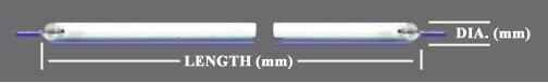 ต้นฉบับใหม่ 5.7 นิ้ว 100 มิลลิเมตร * 2.0 มิลลิเมตร CCFl Backlight โคมไฟด้วยสายเคเบิ้ลสำหรับหน้าจอแอลซีดี