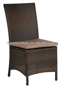 aluminum rattan garden armless chair metal outdoor chair