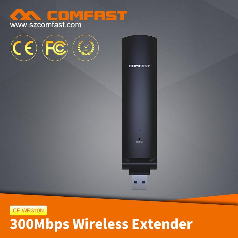 2017 Hot Sale COMFAST CF-WR310N 300mbps USB Wireless Wifi Repeater/ Wireless Extender/Wireless N Wifi Repeater