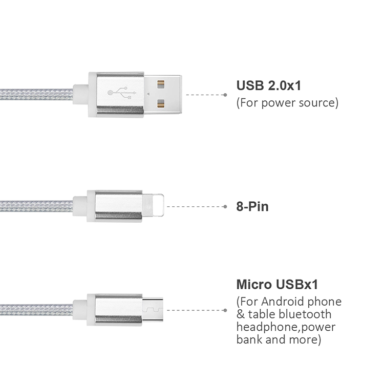 2020 Hot Selling 21cm Fast Charging Keychain Micro Usb Charging Data Cord Charger Cable 21cm