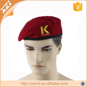 Training camp hats wool military beret with badge