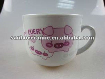 Stock porcelain pig pattern cup