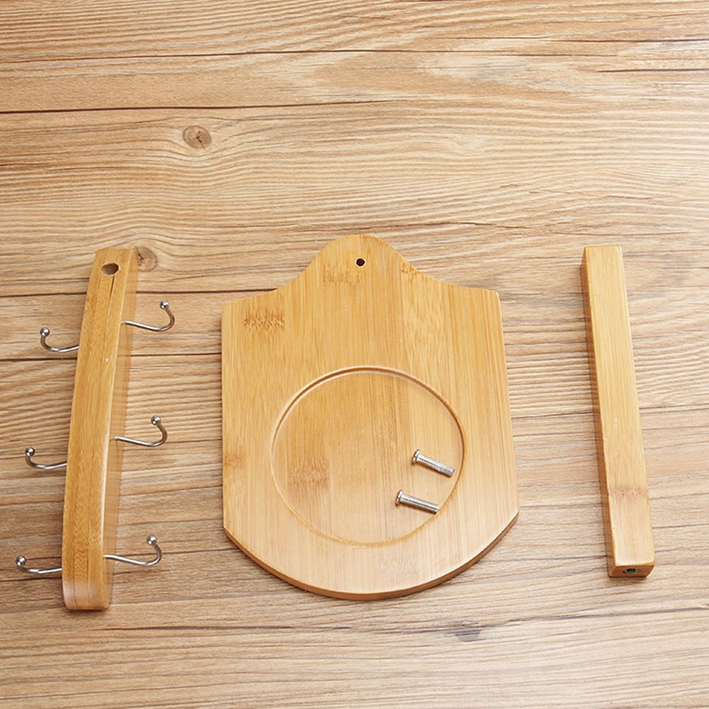 special design bamboo cup holder neck glass cup with metal holder for hot sell
