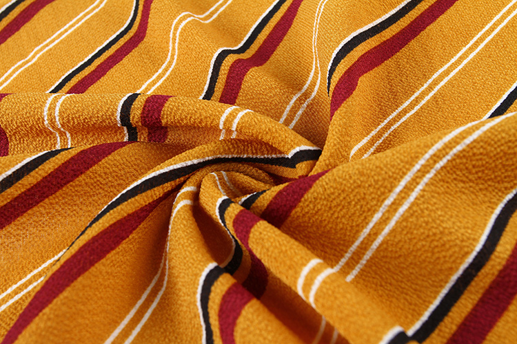 Cut complete woven african print stretch chiffon fabric without loose edges
