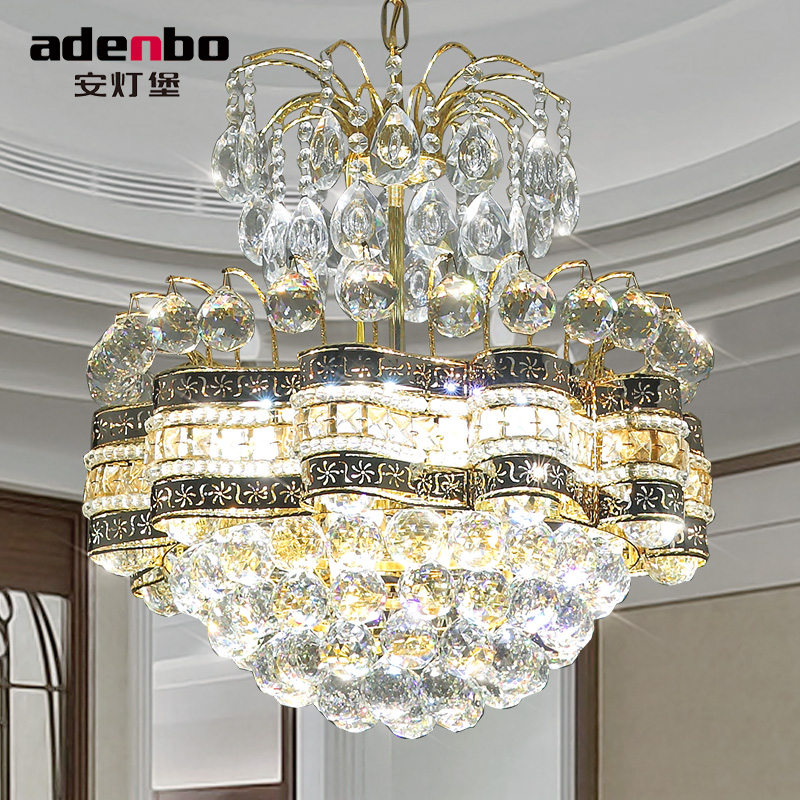 Dining Room Crystal Chandeliers: 2016 New Modern Gold LED Crystal Chandeliers Light 48cm