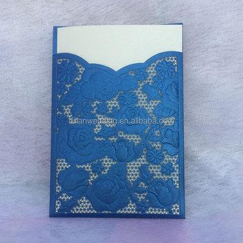royal blue hindu wedding card design - Wedding Card Design
