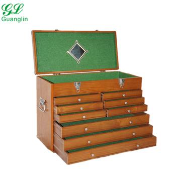9 Drawer Large Wood Tool Cabinet