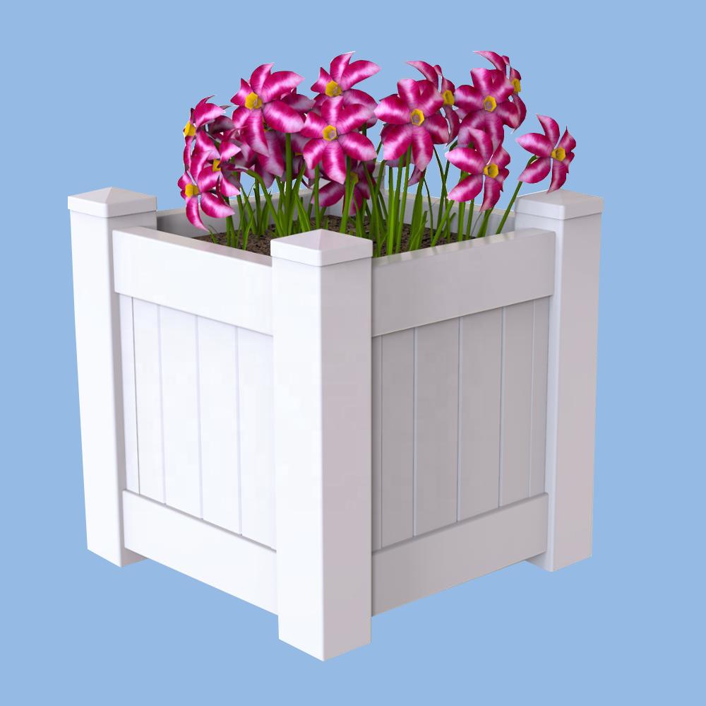 Vinyl Planter Box PVC Flower Pot For Garden And Roadway & Vinyl Planter Box Pvc Flower Pot For Garden And Roadway - Buy ...
